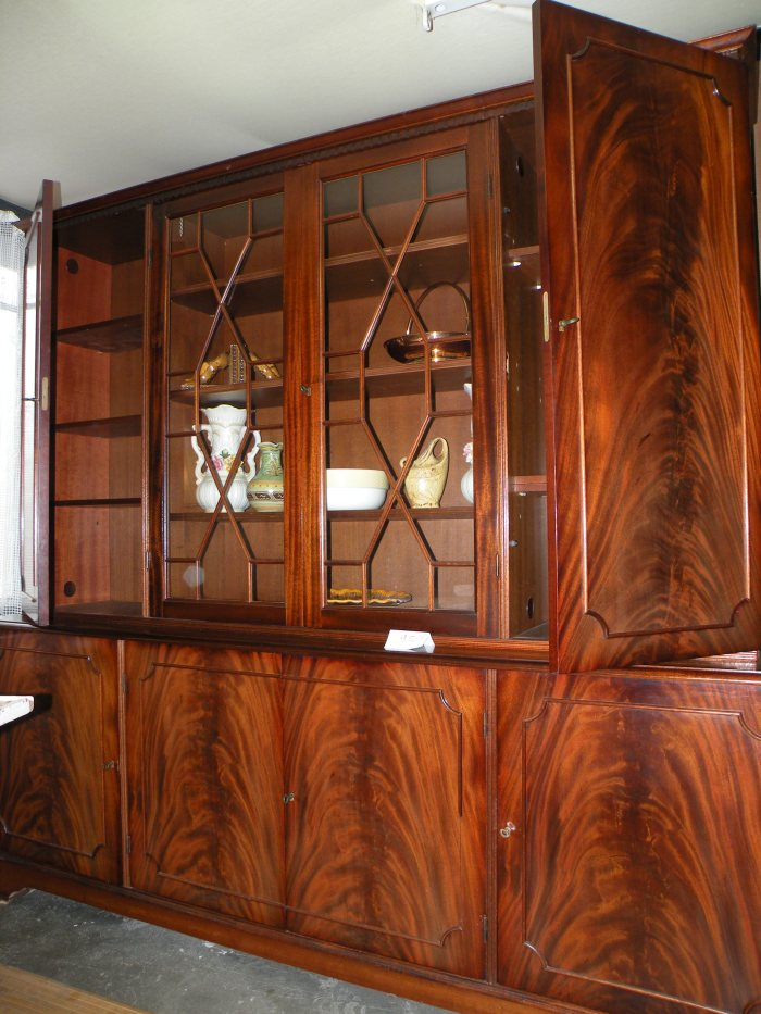 arcelin brocante au vrai rustique vendue bibliotheque anglaise acajou. Black Bedroom Furniture Sets. Home Design Ideas