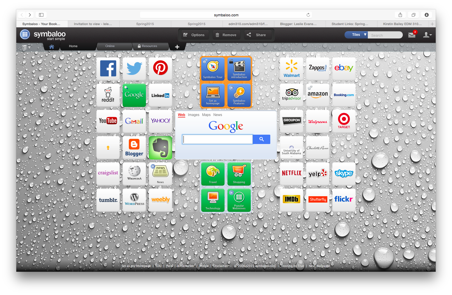 Leslie's Symbaloo