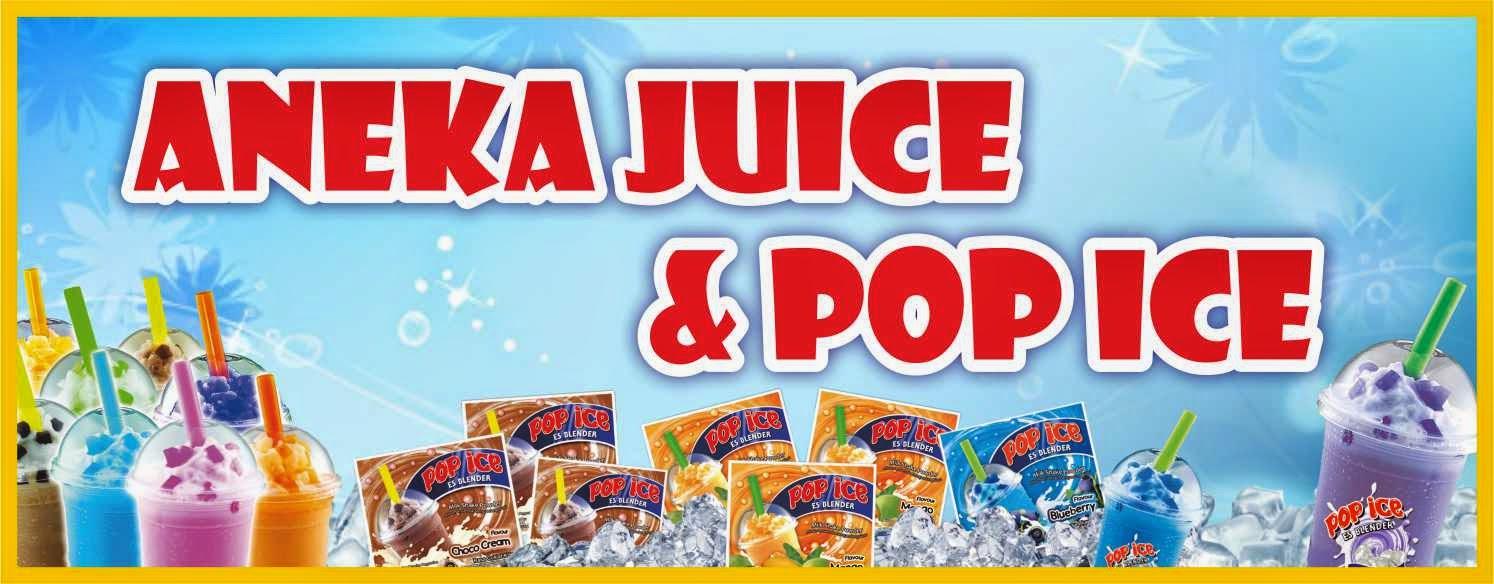 Desain Spanduk/Banner Aneka Juice dan Pop Ice Vector File