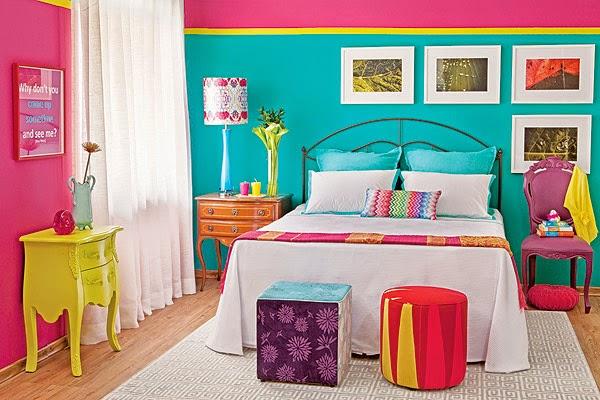 Milena Boaro Tips Decor combinando rosa e verde água ~ Quarto Rosa E Verde
