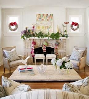 Caminetti natalizi Shabby Chic e Provenzali