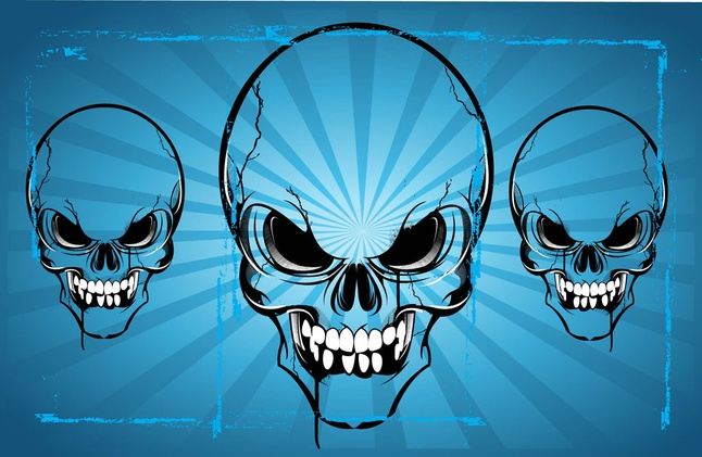 Free Horror Skulls Vector Art