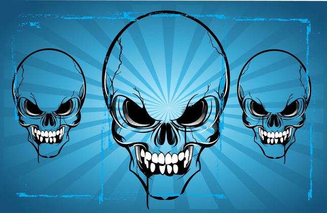 Free Horror Skulls Vector Art