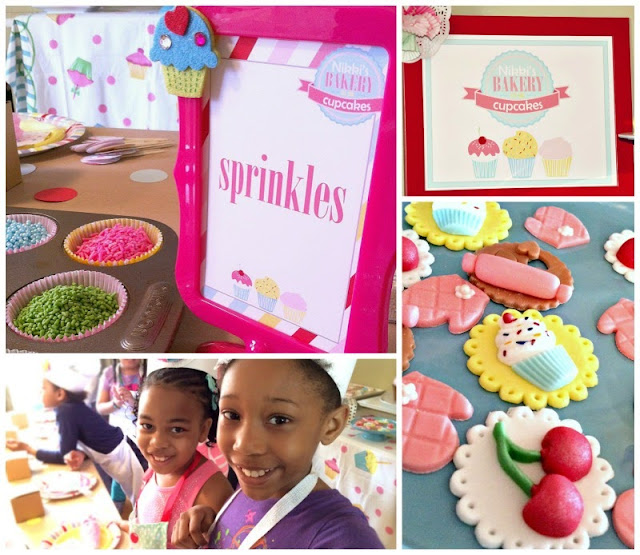 baking party ideas, girl birthday party ideas, cupcake party decor