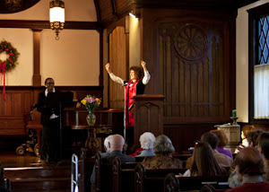 Claudette Duff as Frances Ellen Watkins Harper and interviewer, Rev. Susan Karlson