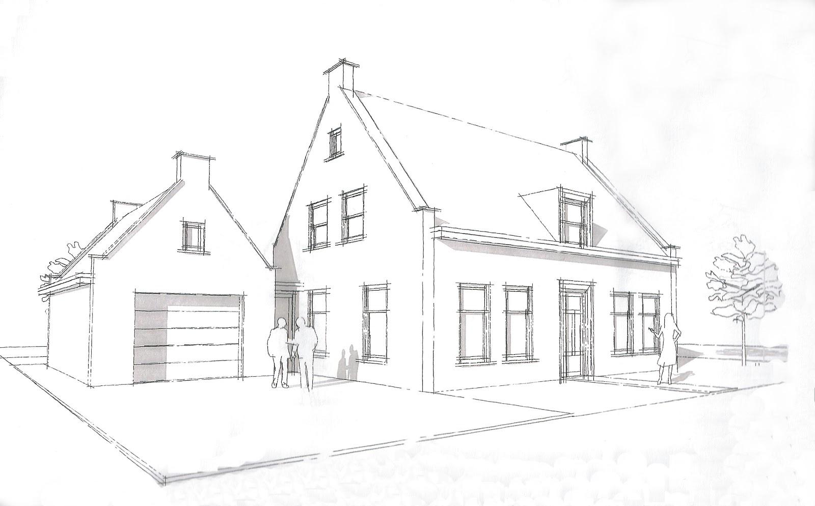 Het bouwen van ons nieuwe huis straat veranderd ontwerp for Tekenen 3d