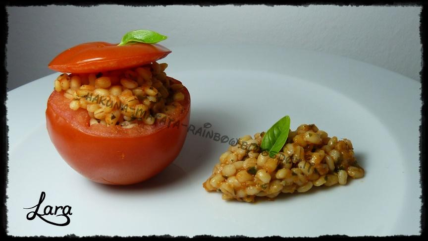 pomodori ripieni di orzo (veg)
