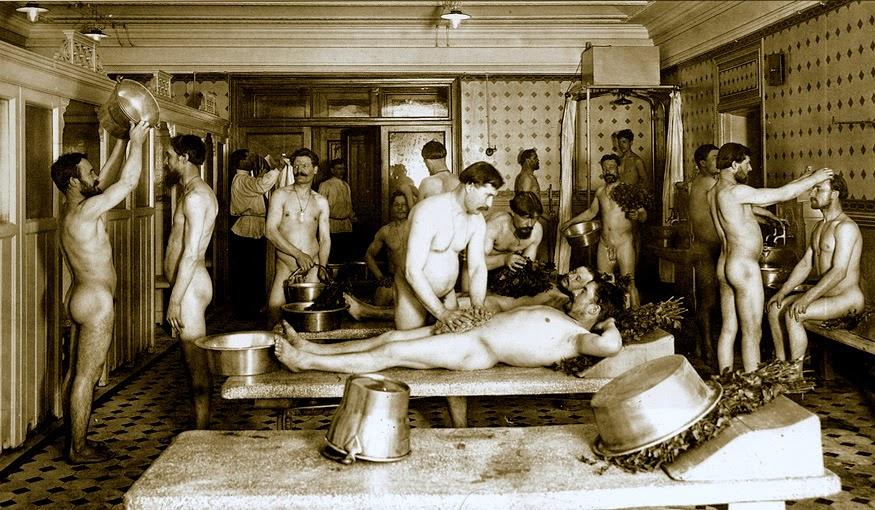 ретро фото в бане
