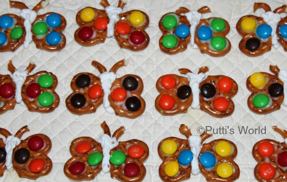 Pretzel butterfly kids party fun food