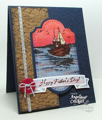 "ODBD ""Waves on the Sea"" and ""Fishing Net"" Background , Card Designer Angie Crockett"