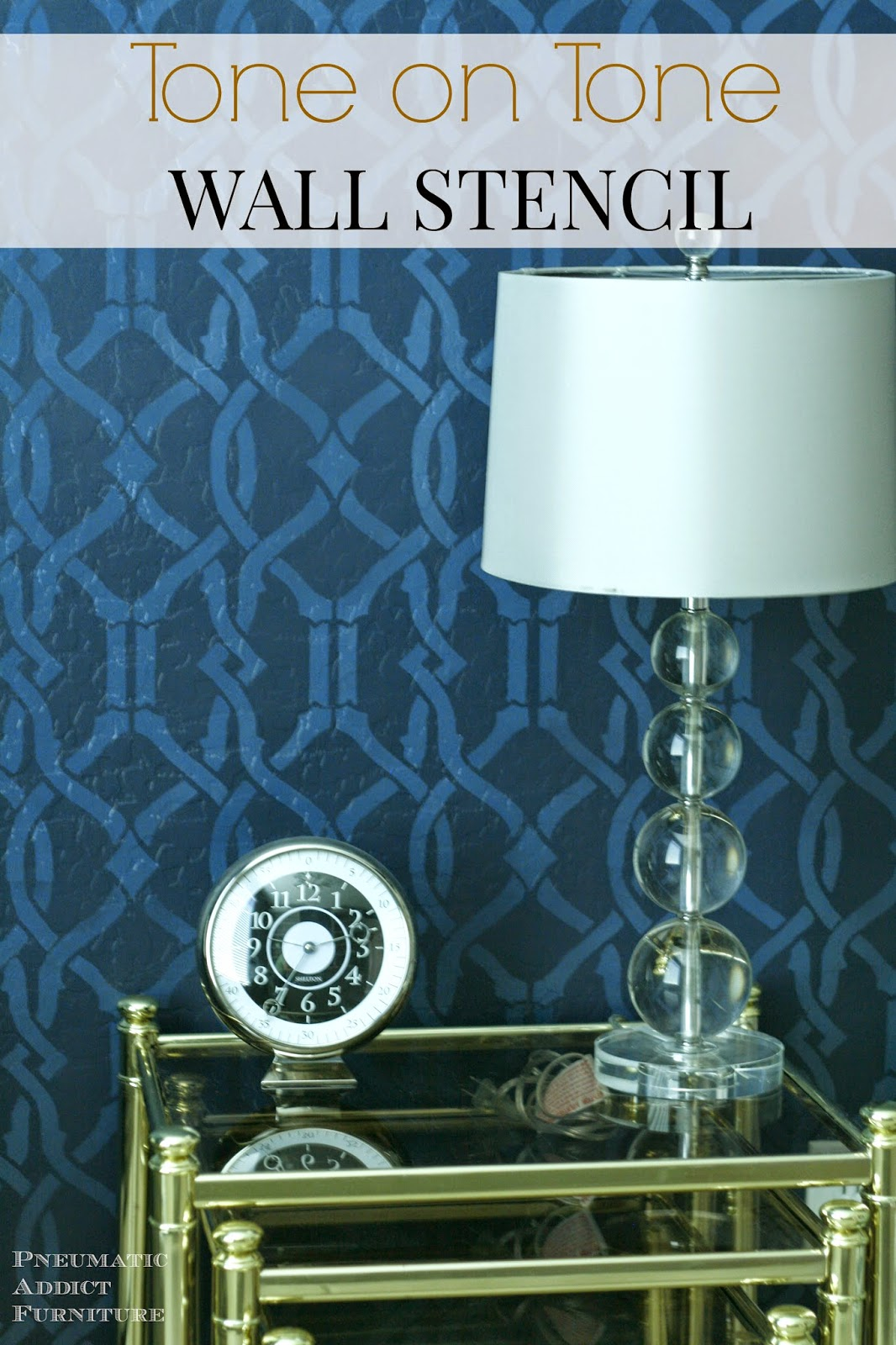 How to create a tone on tone pattern on a wall using a stencil
