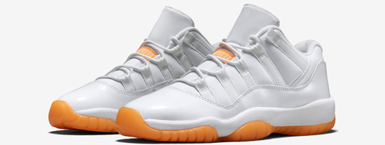air jordan retro 11 white orange