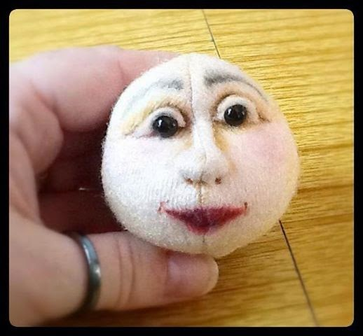 cloth art doll head