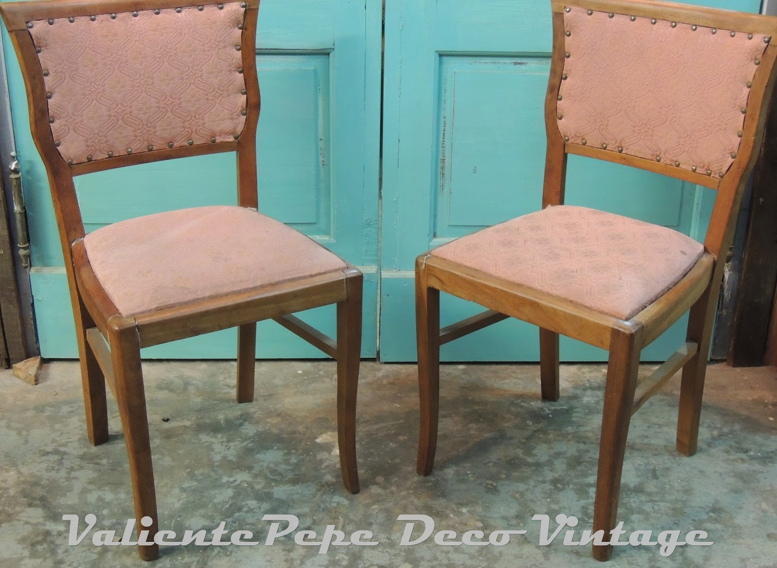 Juego de 6 antiguas sillas francesas tapizadas valiente pepe - Como tapizar sillas antiguas ...