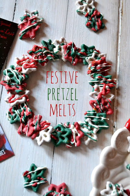 festive pretzel melts