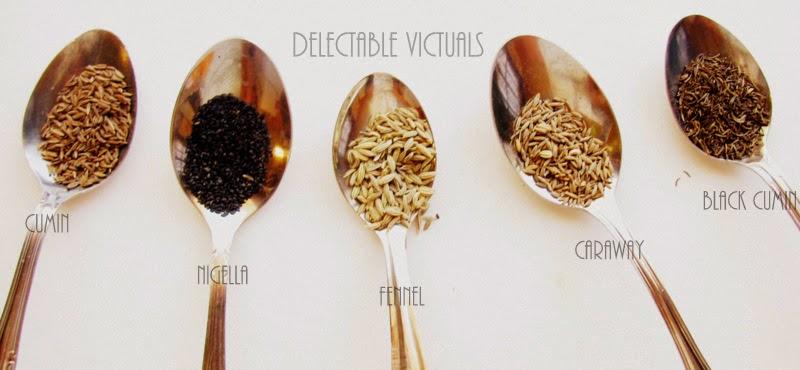 nigella caraway black cumin fennel indian spices