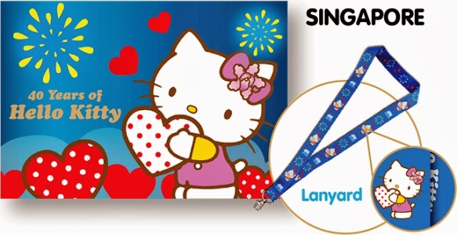 hello kitty mystamp folder set lanyard