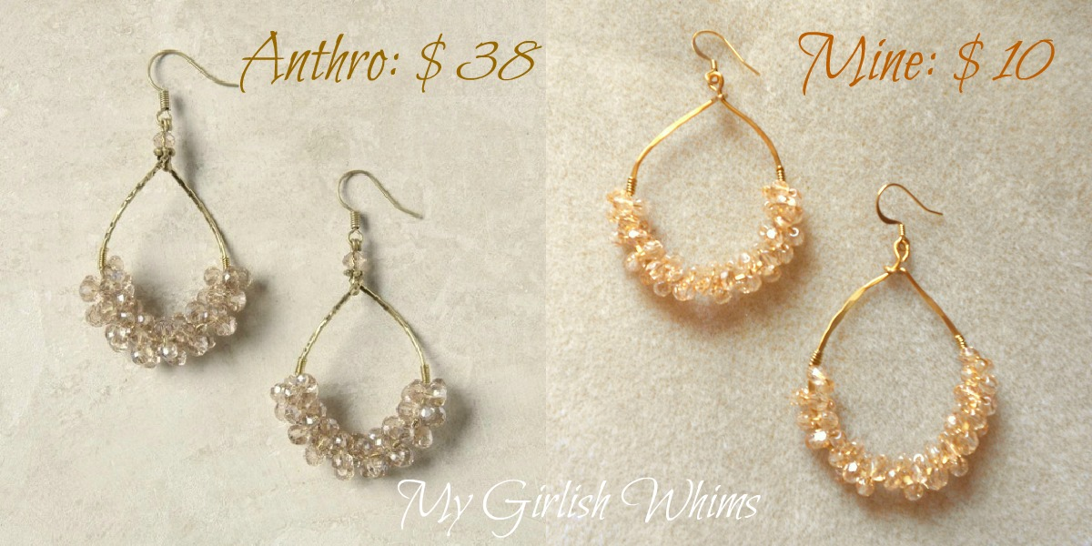 Anthropologie KnockOff Earring Tutorial My Girlish Whims