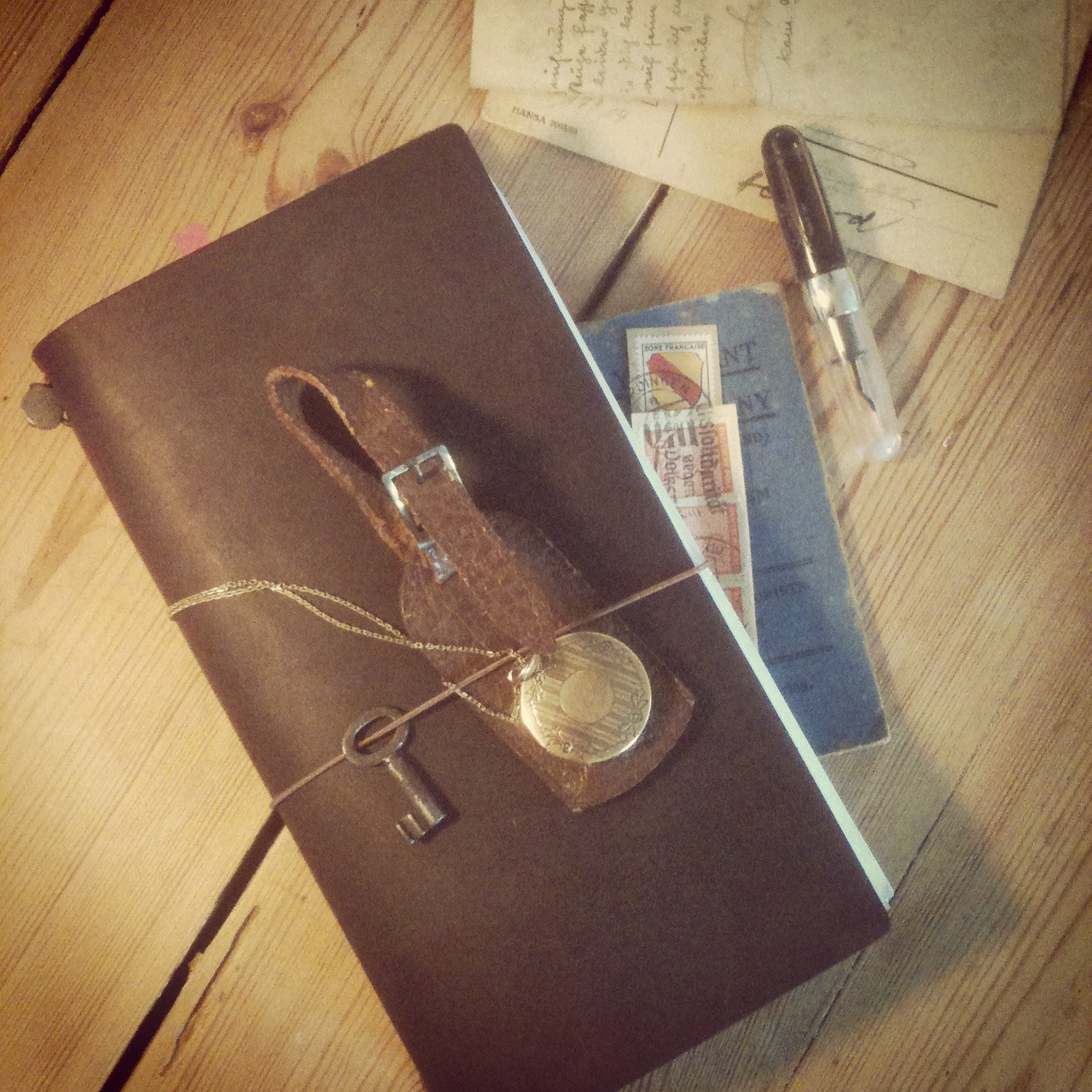 Image of: Rd Spotsylvania Travelers Notebook Stipula Passaporto And Some Old Stuff Nicnilla Nicnilla Midori Travelers Notebook