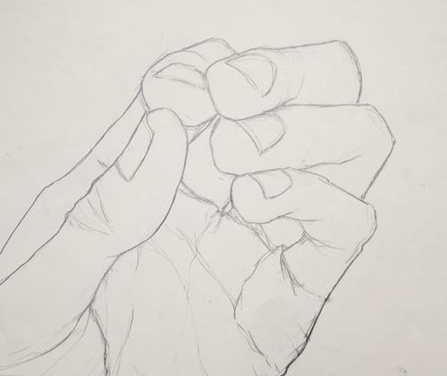 Contour Line Drawing Of A Hand : Tnhs art dept august