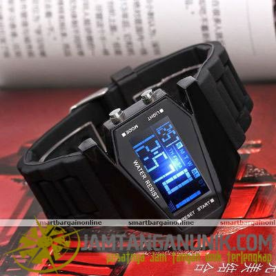 led watch jetplane aviator pesawat tempur airplane