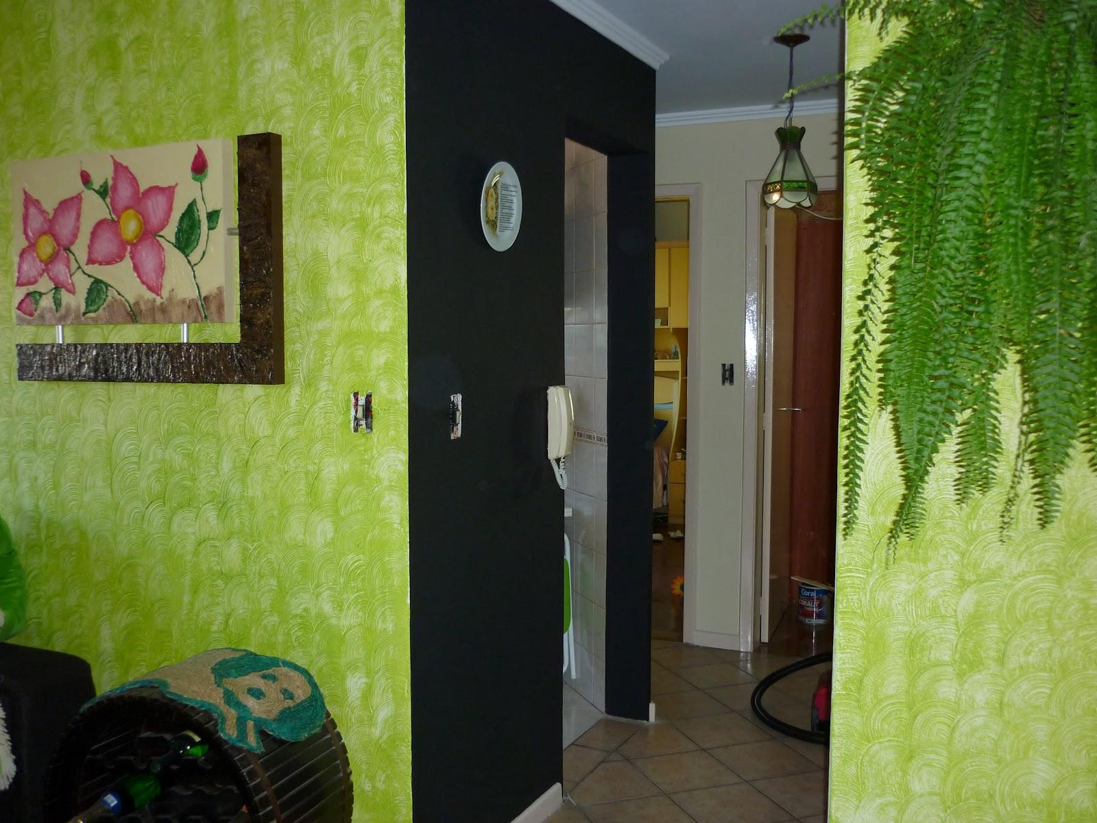 Pintura parede textura sala cole o de - Pintura de paredes ...