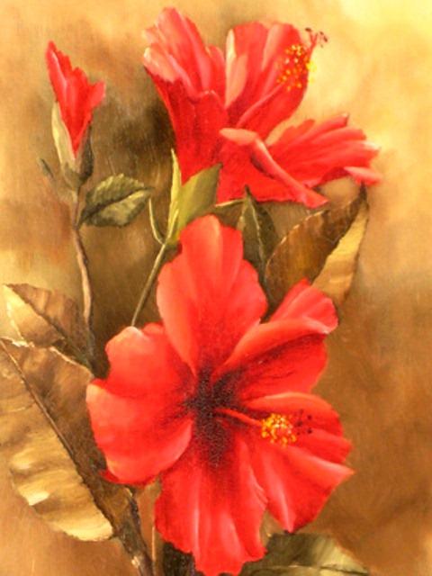 Fasci Arte Pintando Flores