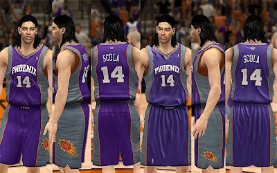 NBA 2K13 Phoenix Suns Away Jersey