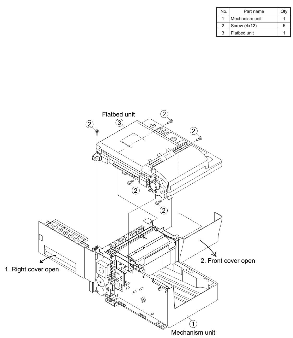 how to disassemble sharp am 400 - sharp am 300de