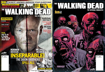 The Walking Dead Official Magazine, le cover del numero 3 (la variant è a destra)