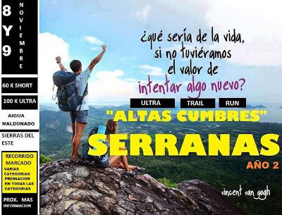 Ultra trail run Altas cumbres serranas (Aiguá, Maldonado, 100k y 60k; 08-09/nov/2014)
