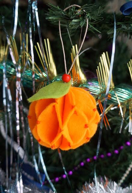 шар на елку мандарин