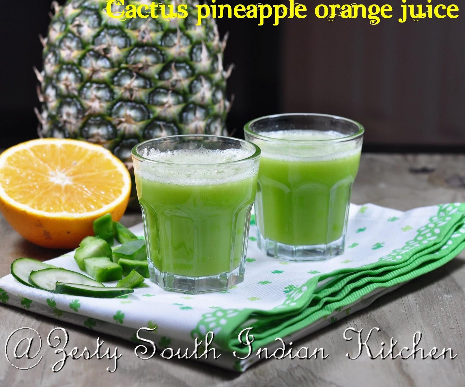 cactus pineapple orange juice agua de nopal piña con naranja a