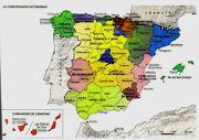COMUNIDADES AUTÓNOMAS Y PROVINCIAS DE ESPAÑAMAPAS (mapa espaã±a)