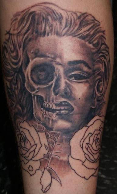 Tatuaje Marilyn Monroe calavera