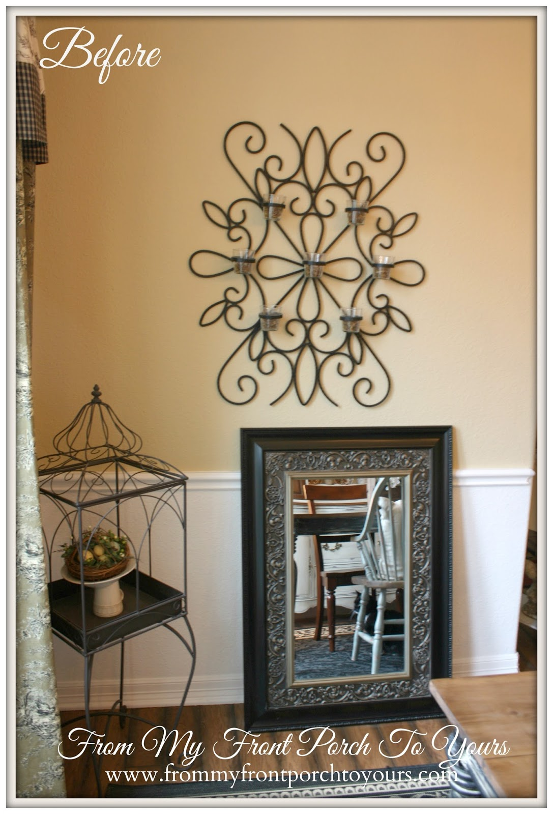 From My Front Porch To Yours- French Farmhouse Dining Room Reveal-Before