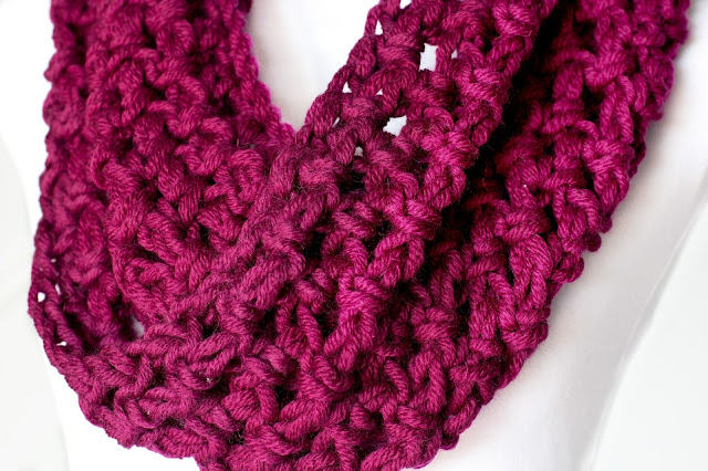 Crochet Shawl Patterns Bulky Yarn : Hopeful Honey Craft, Crochet, Create: Basic Chunky Cowl ...