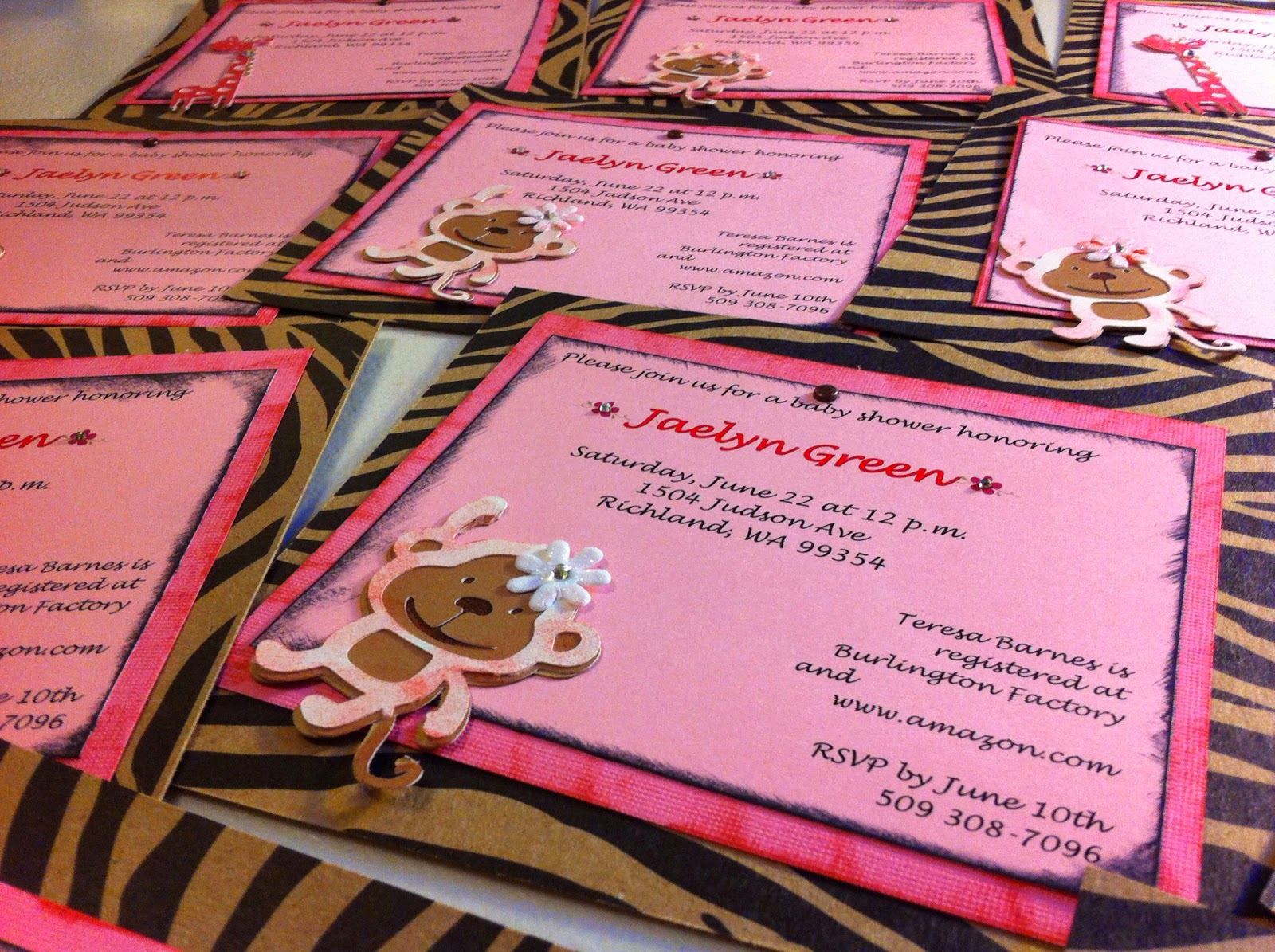 Scrapbook ideas using cricut - Using Our Cricut Cartridge Create A Critter To Make The Animals We Used Our Ctmh Sponge Daubers To Ink The Monkeys And Giraffes Pink Pink Pink