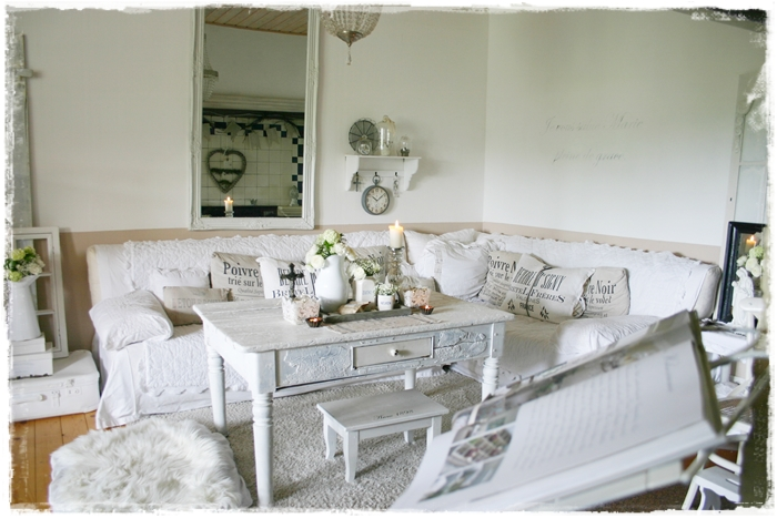 lovely vintage shabby chic wohnzimmer deko im. Black Bedroom Furniture Sets. Home Design Ideas