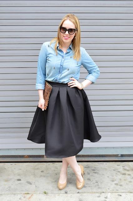 shein-black-midi-skirt