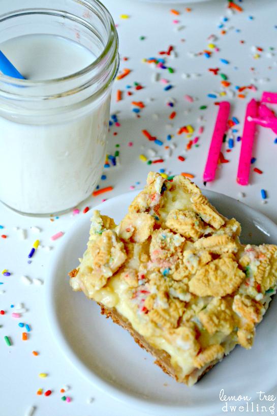 Birthday Cake Oreo Blondies Lemon Tree Dwelling