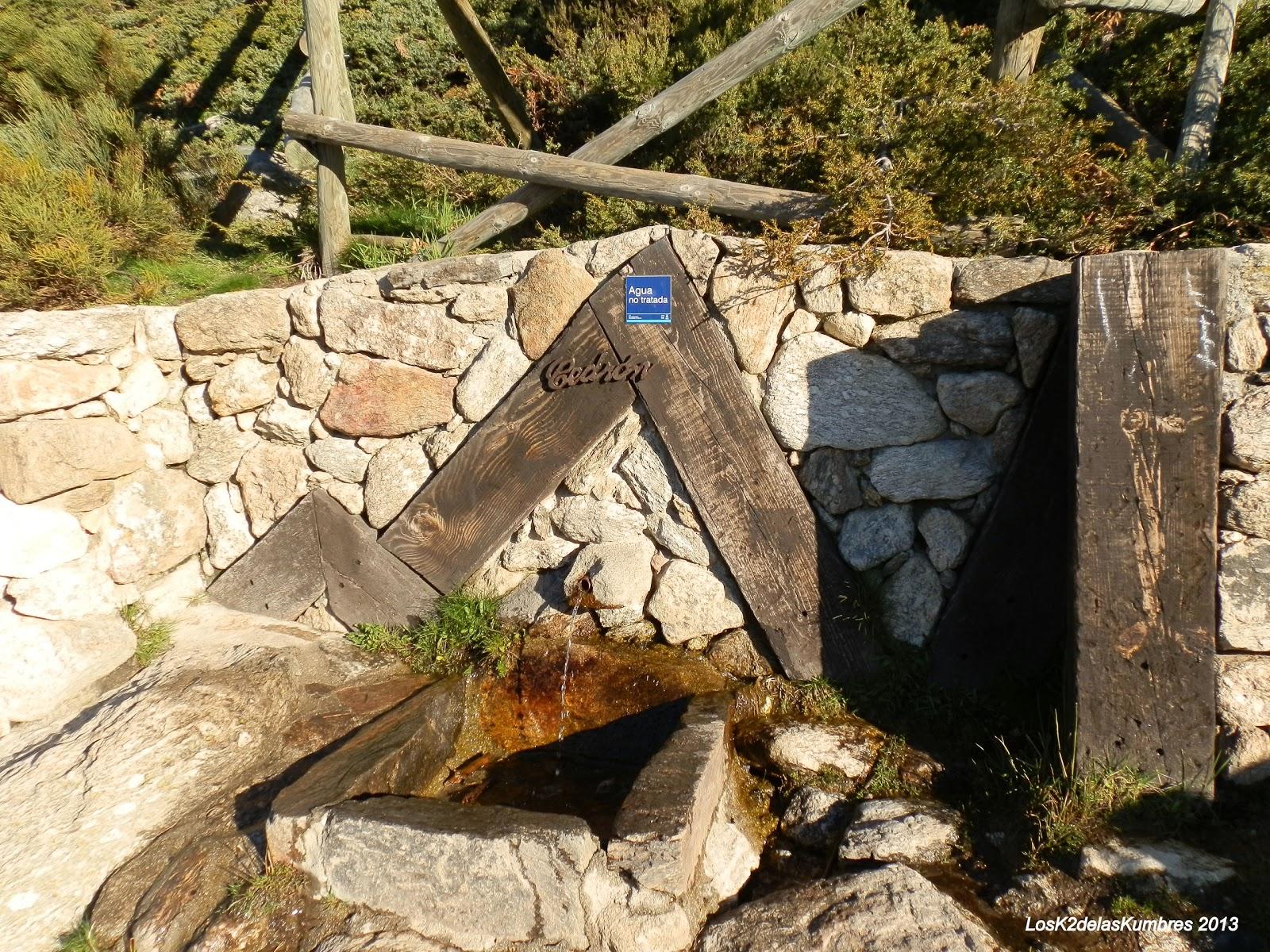 Peñalara fuente Cebron