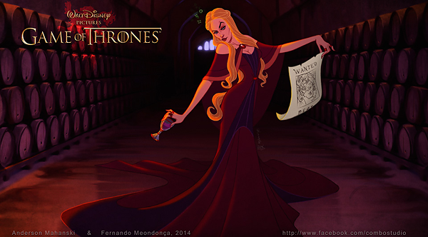 GoT/Disney Mash-Up of Cersei Lannister