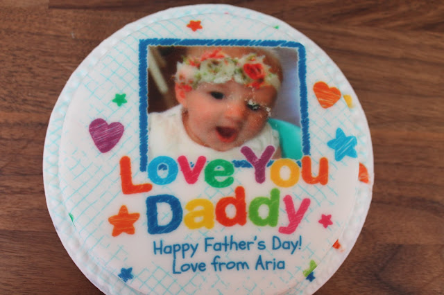 personalised photo cake for father's day