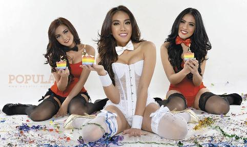Nisa Beiby, Ratu Rany & Diana Putri, ANGELS POPULAR-WORLD No. 328 Mei 2015 - Anniversary 27th Edition, Sexy Surprise! | www.insight-zone.com