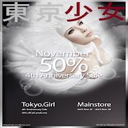 TOKYO GIRL 50 % SALE