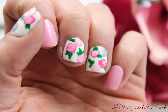 Ready, Set, Polish, Floral Nail Art, Flowers, Nailpolish, essence, KIKO