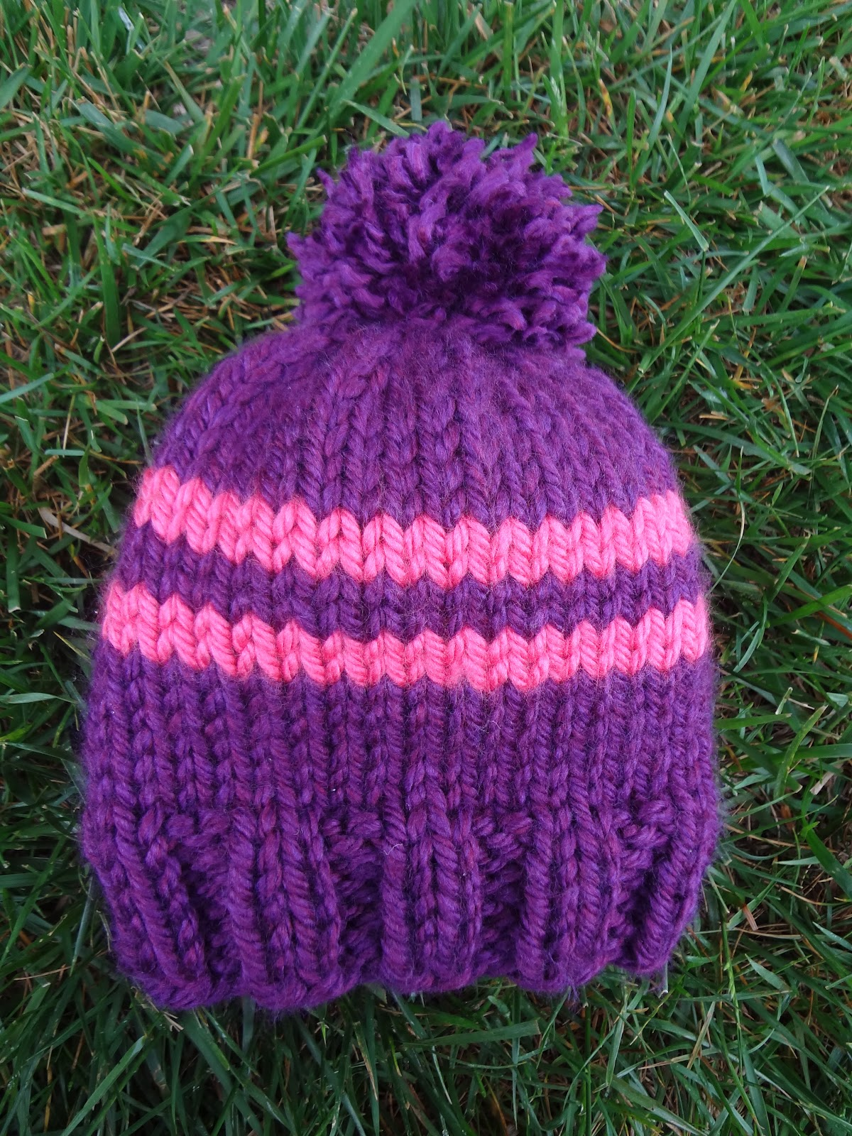 Free Knitting Patterns For Toddlers Beanies : Fiber Flux: Free Knitting Pattern! Preschooler Rugby Hat