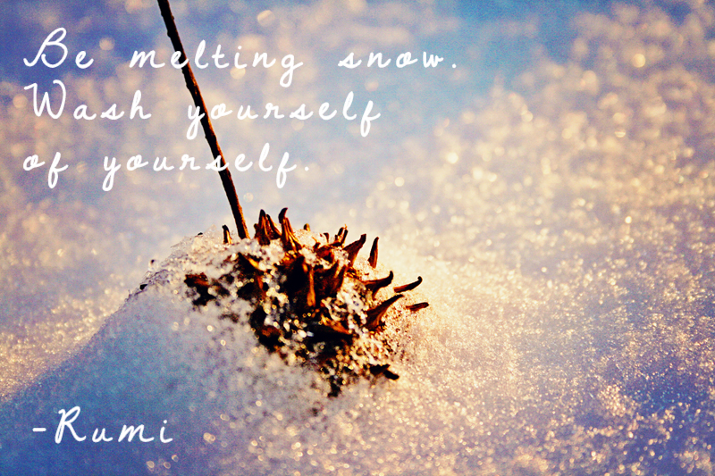 Melting Snow Quote and Snow - Wallpaper Background