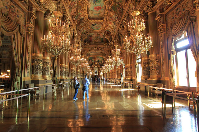 The Grand Foyer of Le Palais Garnier Opera House in Paris, France